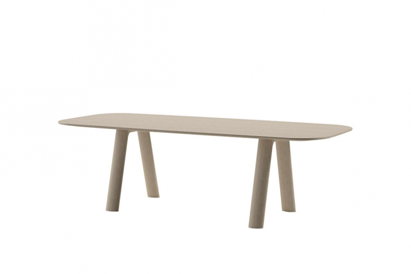 ellisse rectangle table